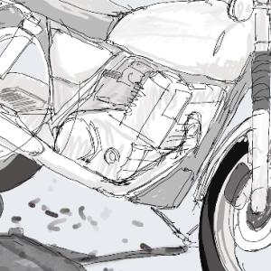 好きなバイクを描いてみる