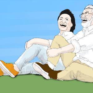 高齢者夫婦を描いてみた!