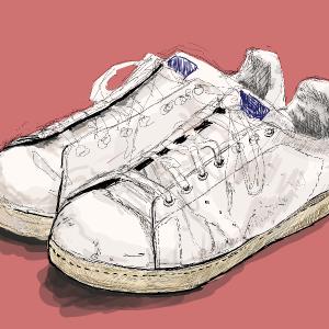 スニーカーをイラストちっくに描いてみた!