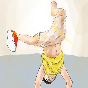 ダンスを決める男性を描いてみた!