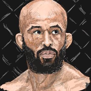 UFCフライ級元チャンピオン「デメトリアス・ジョンソン」選手を描いてみた!