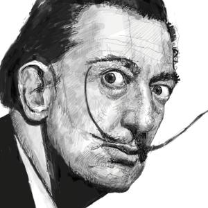 「サルバドール・ダリ」を描いてみた!