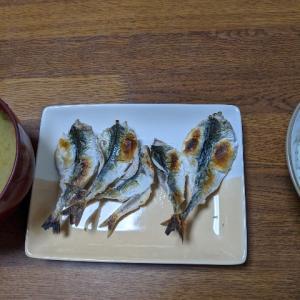 小サバ 焼き魚 塩辛え〜