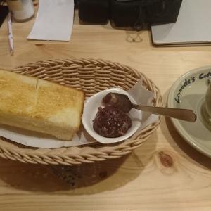 名古屋のモーニングサービスと言えば、コメダ珈琲店の『小倉トースト』だね🎵