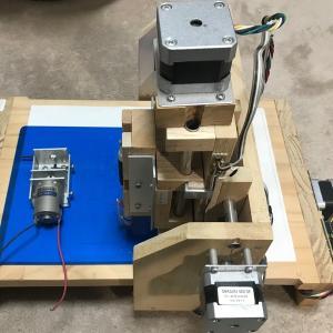 自作CNC 作りかけ