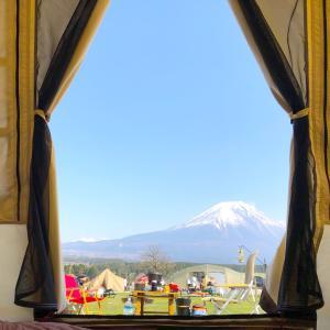 春のふもとっぱらで、OgawaオーナーロッジT/Cと富士山コラボしてみた♡