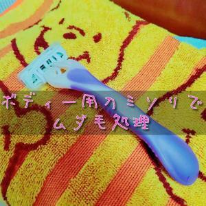 ボディー用カミソリでムダ毛処理のビフォーアフター