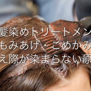 【白髪染めトリートメント】もみあげやこめかみ、生え際が染まらない8つの原因・対策