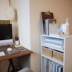 ニトリのカラーボックスは棚板の高さが変えられる!デスクまわりのA4サイズの書類やファイルをすっきり収納