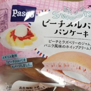 Pasco 旅するsweets ピーチメルバ風パンケーキ 食べてみました。
