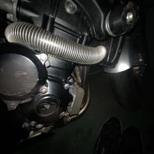 キャップ交換虚しく冷却水漏れ確認GSR400