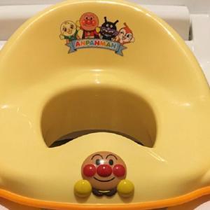 アンパンマンの補助便座でトイレトレーニングスタート