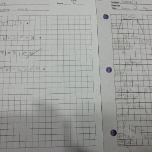 【Grade4】ペーパーワーク Math