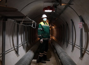 モスクワの地下トンネル