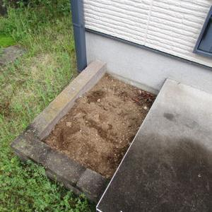 庭に猫トイレあります
