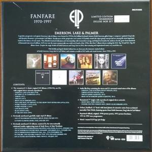 「Fanfare 1970-1997」BOXの箱の裏側
