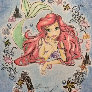 100均のアートぬりえがすごい!Arielのアリエルを塗ってみた感想