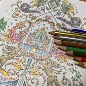 ねむれる森より【いにしえの城の塗り絵】完成してから意味を考えた