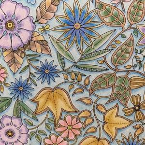 ノルディックモダンのテーマカラーを参考に塗ってみた『ひみつの花園』より