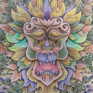 『ねむれる森』より【エスニック調バリの神様】のイメージで塗ってみた
