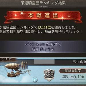 火古戦場予選結果!