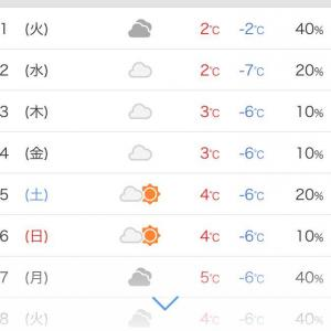 寒いです😨最低気温は、マイナスです😅