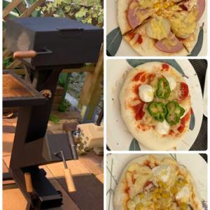 ピザ窯でピザ作り 第6弾