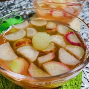 まるで果物、レモンペーストで野菜ゼリー作りました