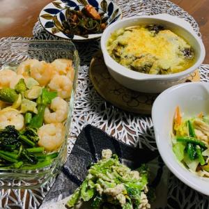 レンジとオーブン酷使の晩ご飯