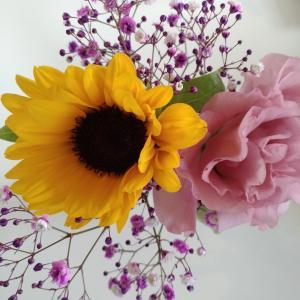 お花のサブスクひまわりでした^^・ブルーミーライフ1回500円+送料