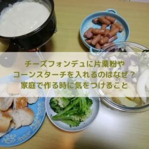チーズフォンデュに片栗粉やコーンスターチを入れるのはなぜ?家庭で作る時に気をつけること