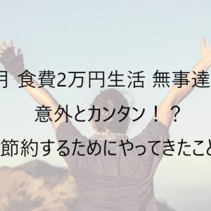 【節約】一人暮らし 食費2万円 生活♪ ~達成して思ったこと~