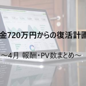 【ネットビジネス】4月のPV・報酬のまとめ~対前月比105%増!~