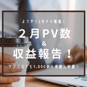 【はてなブログ】2月PV・収益まとめ~2万PV奪還!~