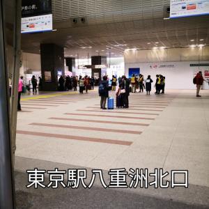 東北旅行ツアーで東京駅八重洲北口に集合 深川めし 鶏そぼろと唐揚げ弁当