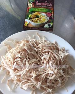 インドネシア料理「ソトアヤム」と王将餃子の夕飯