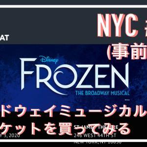 NYC事前学習#03,ブロードウェイミュージカル、アナ雪をできるだけ安く予約してみる&抽選もしてみる