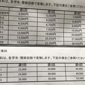料金表です