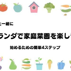 【体験談】子供達と一緒にベランダで家庭菜園を楽しむための4ステップ【賃貸】