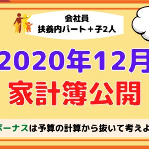 【家計見直し】2020年12月の家計簿(貯蓄率33.3%)【30代子育て4人家族】