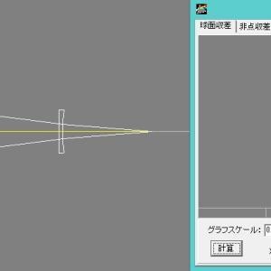 SV165アクロマートレンズに補正レンズを加えてC線F線のピント位置を揃える