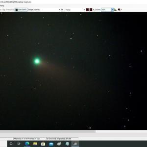 去りゆくネオワイズ彗星を電視観望で