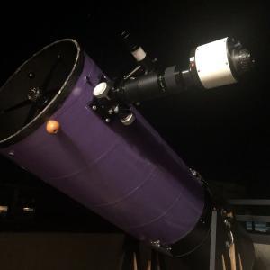 ナイトビジョン縮小光学系を、8cmF5、15㎝F4、30㎝F5にて試す