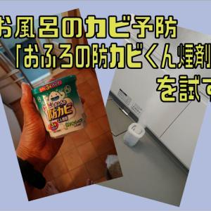 お風呂のカビ予防「おふろの防カビくん煙剤」を試す
