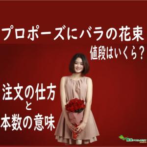 プロポーズにバラの花束、値段はいくら?注文の仕方と本数の意味
