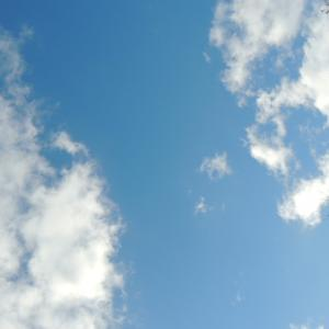 雲が 輝いていました