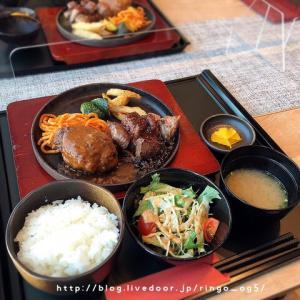 斎藤牛のハンバーグ&ステーキセット☆ステーキ&焼き肉 斎藤牧場