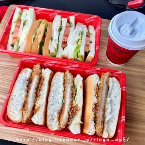 作りたてサンドイッチをテイクアウト☆コメダ珈琲