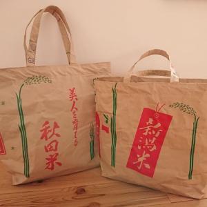 米袋でトートバッグ