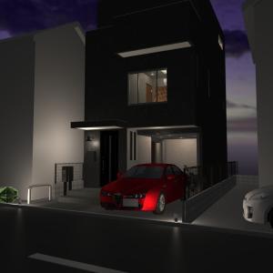 GW暇だから建築中の自宅の3Dパースを作ってみた